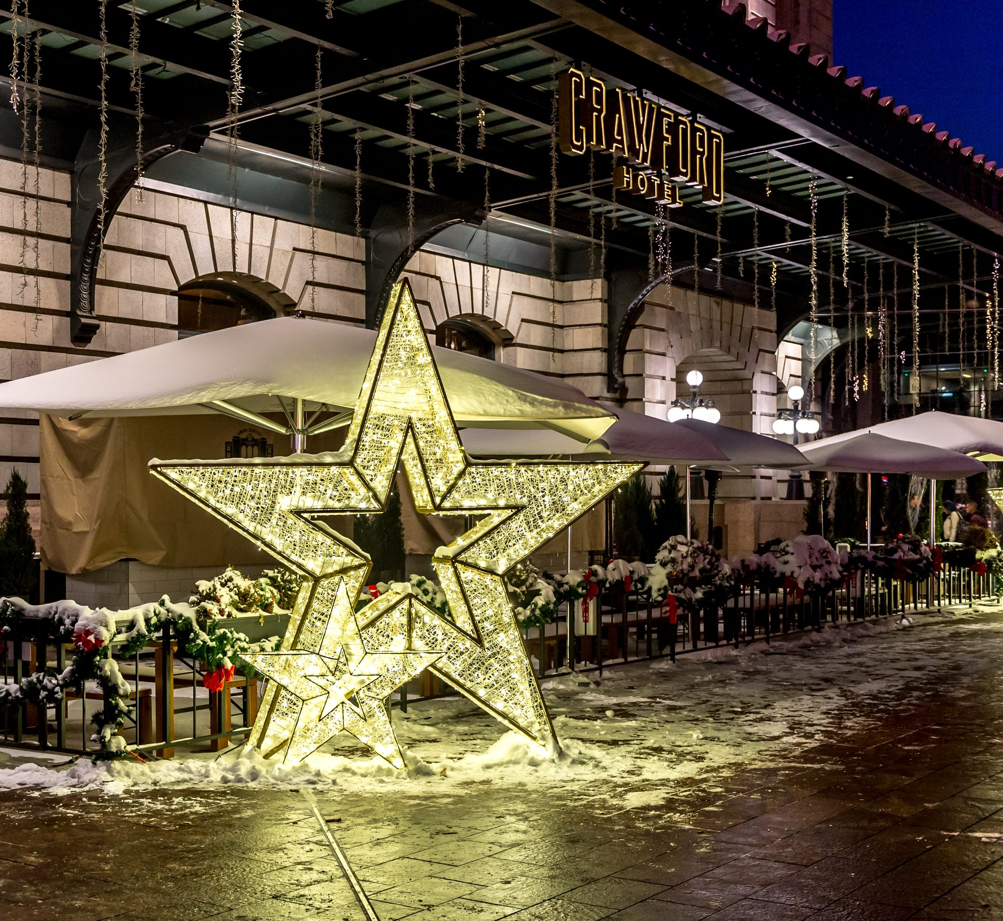 Star Decoration Outside Union Station