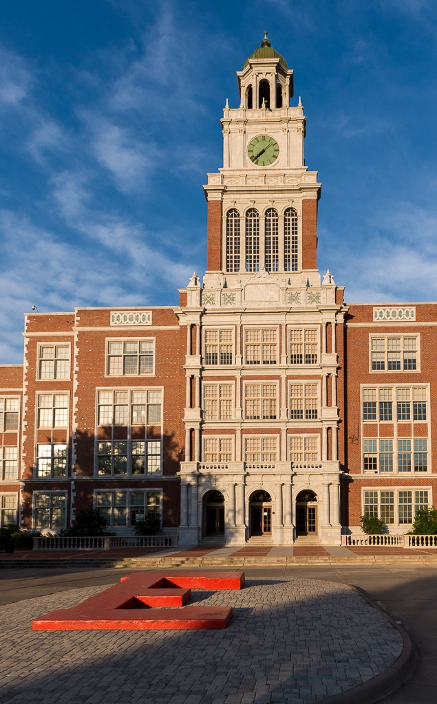 East High School with large E in foreground