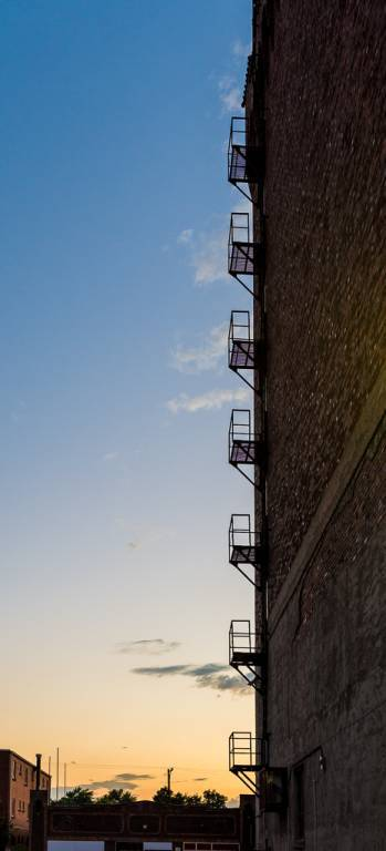 Fire escape on six storey warehouse