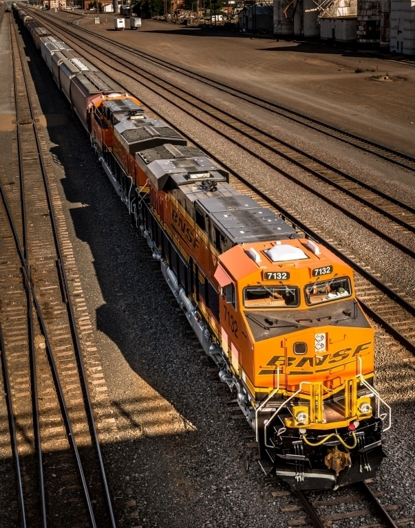 BNSF train in Clovis, NM