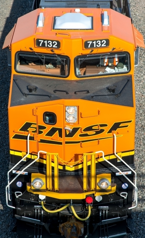 BNSF locomotive in Clovis, NM